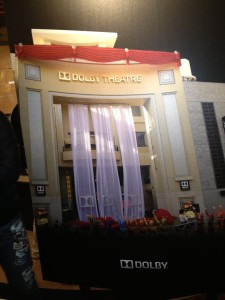 Here is a photo of the Dolby Theater in Hollywood where the Academy Awards are presented each March.