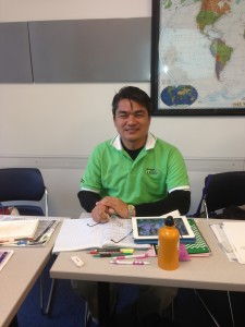 "Our student, Pongpanote  ""Pong"" Phongpanngam, in his intermediate level English course in San Francisco!"