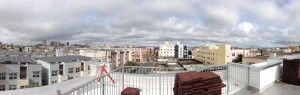 Our new residence has a rooftop deck with great views of the City!