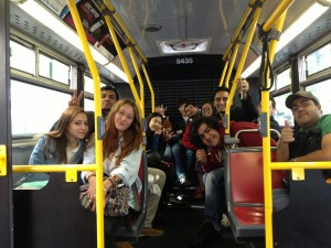 bus ride to Dolby studios