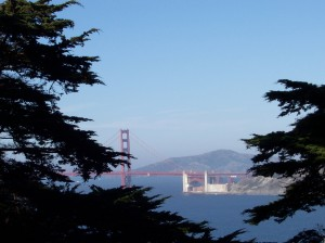 The Golden Gate Bridge, as seen from the Legion of Honor Museum