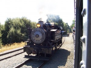 Historic steam engine, California Railroad Museum