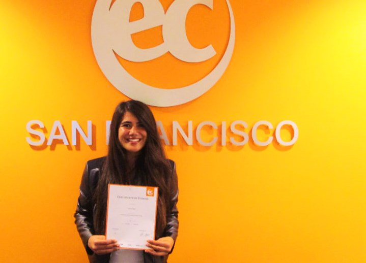 Havva's English improved after taking full immersion English courses at EC San Francisco