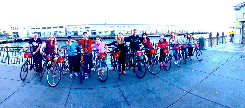 EC San Francisco Students take a break from their English course in San Francisco to bike the Golden Gate Bridge