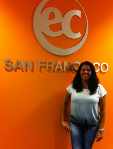 Giselle studies at EC SF, an English language center in San Francisco