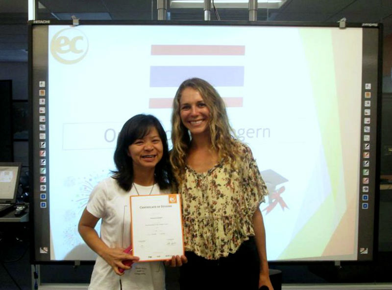 Orachoon from Thailand talks about her experience taking English courses in San Francisco