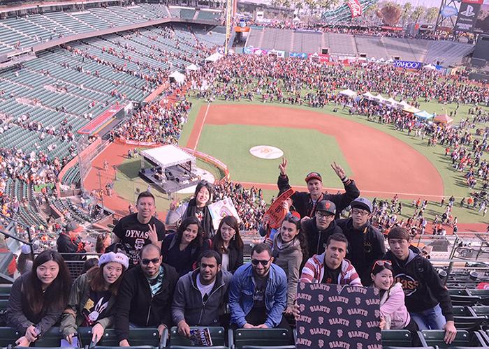 EC San Francisco English Students enjoy a day at the Ball Park