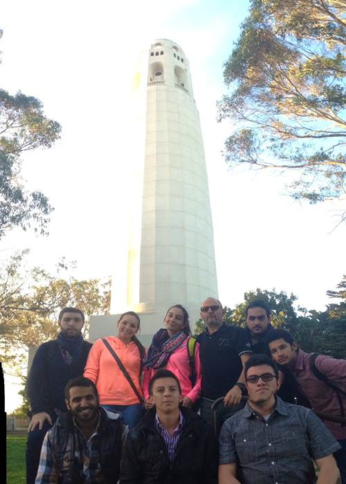 EC Students Learning English at Coit Tower