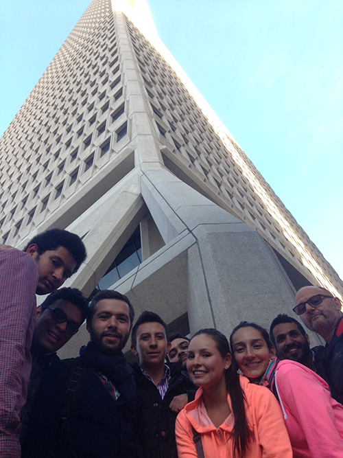 EC Students Learning English at TransAmerica Building