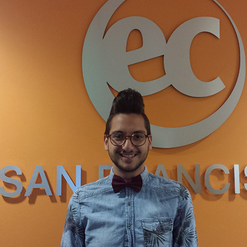 Toni became student ambassador at EC San Francisco