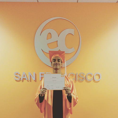 Anas has studied English at EC San Francisco for a year