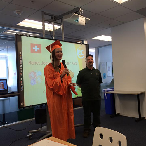 Rahel studied English and FCE courses at EC San Francisco
