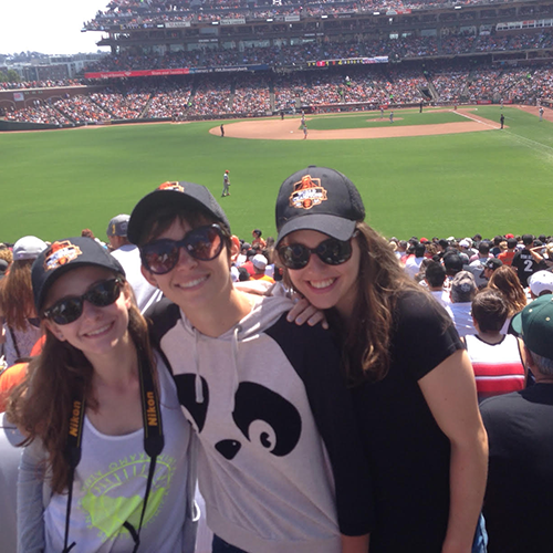 EC students cheer on the San Francisco Giants