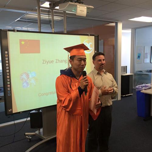 Ziyou has graduated from studying English at San Francisco