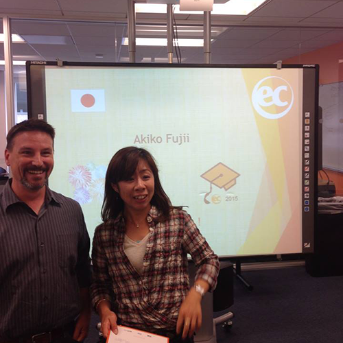 Akiko is studying ESL in San Francisco