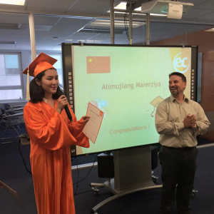 Alimujiang graduated and studied English in San Francisco