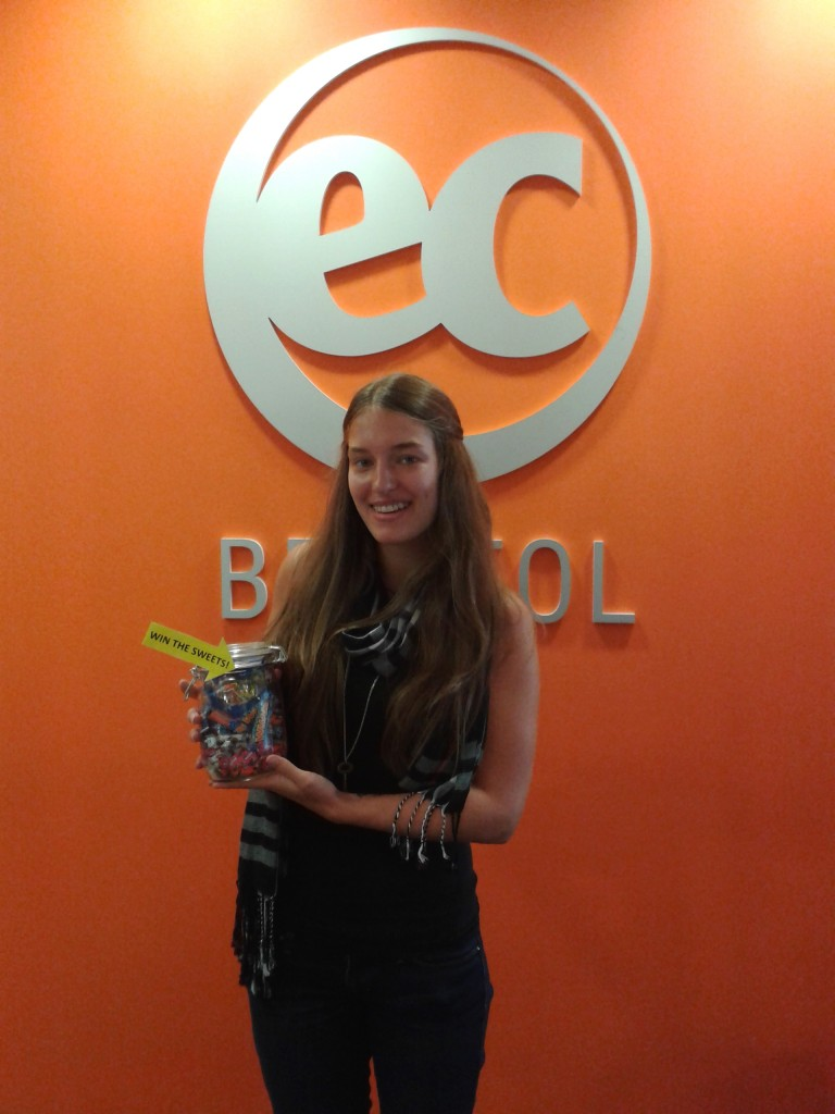 Jeanette Buraas, from Norway, who is currently studying English at EC Bristol