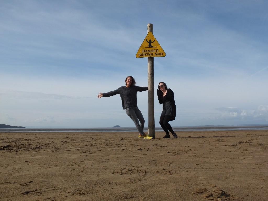 """Danger sinking mud"" sign at Weston-Super-Mare!"