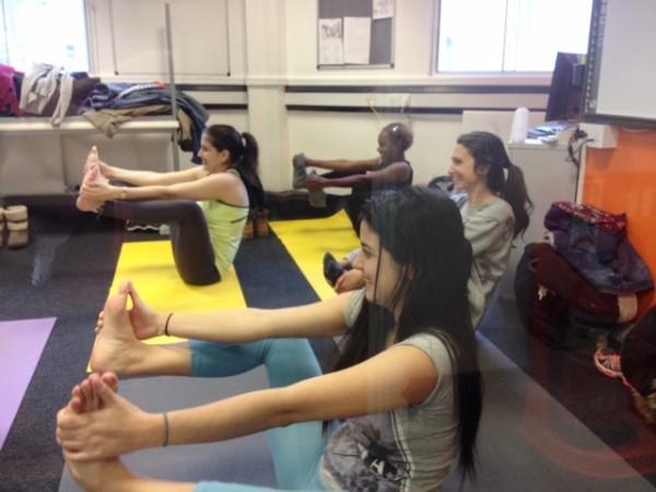 Yoga Session at EC Bristol