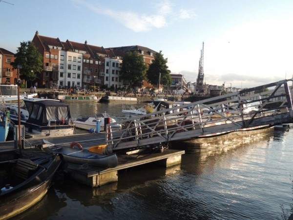 Bristol Harbour on a sunny day