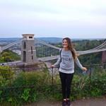 Lara at the Clifton Suspension Bridge
