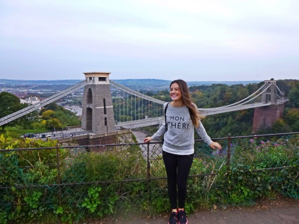 Lara at the Clifton Suspension Bridge