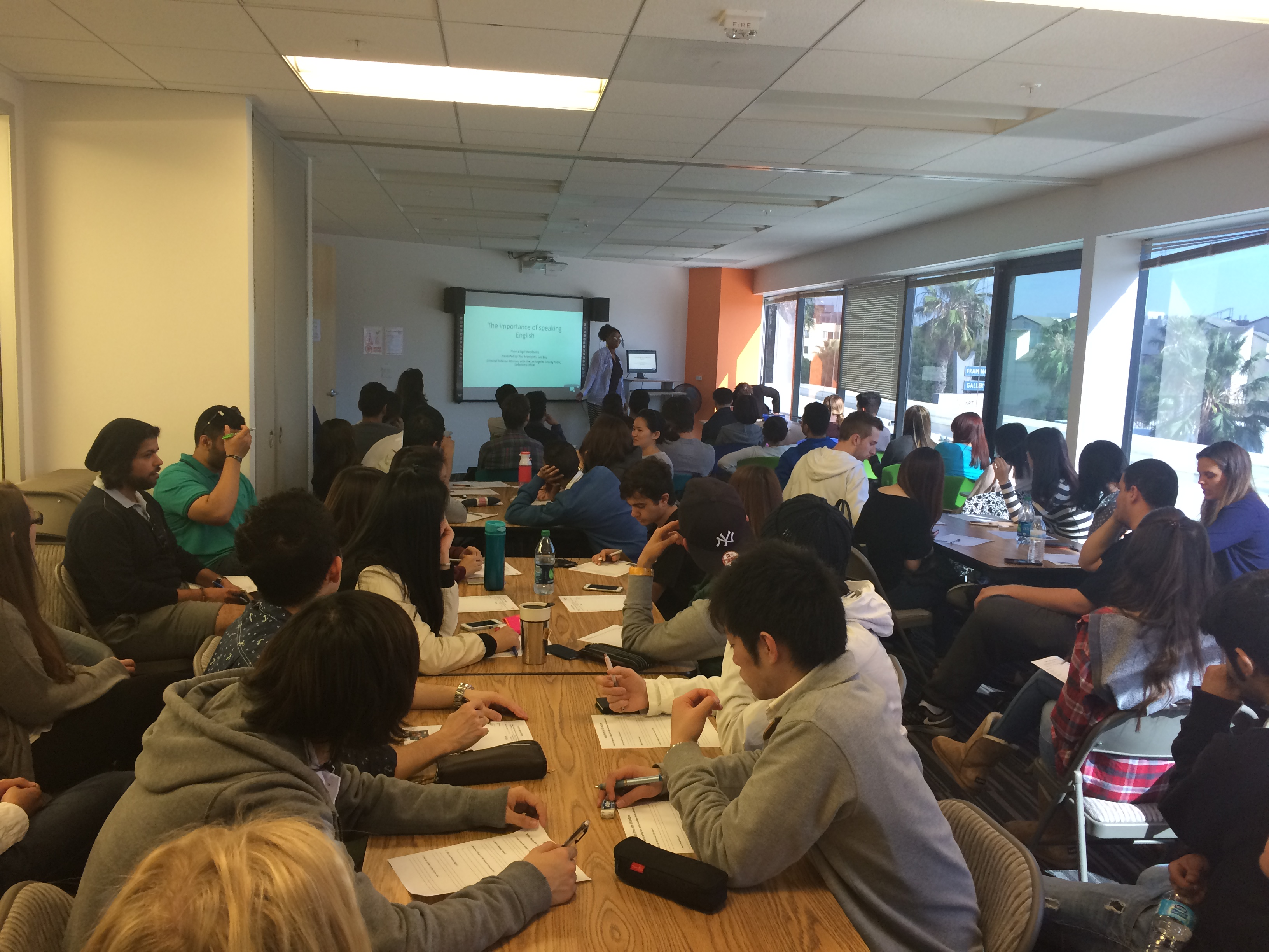 Academic Year Lecture for ESL Los Angeles Students