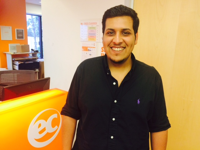 Abdulrahman Althukair is taking an ESL Course at EC Los Angeles