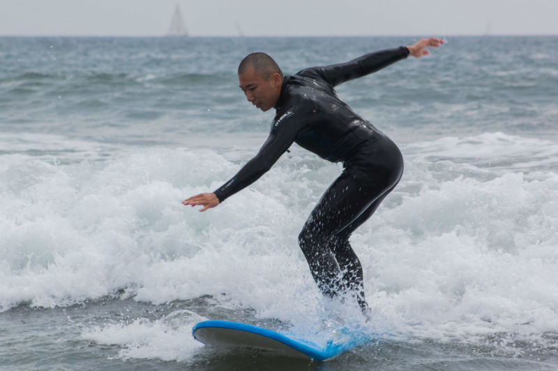 ECLA's intern, Minkuk catching some waves!