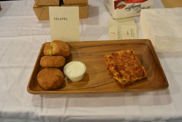 Falafel and Lasagna offered by Crateful