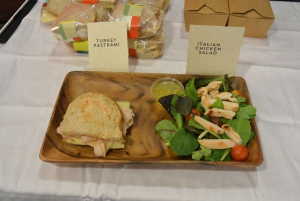 Turkey Panini and Grilled Chicken Salad