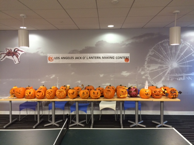 The wonderful pumpkins carved by ECLA students