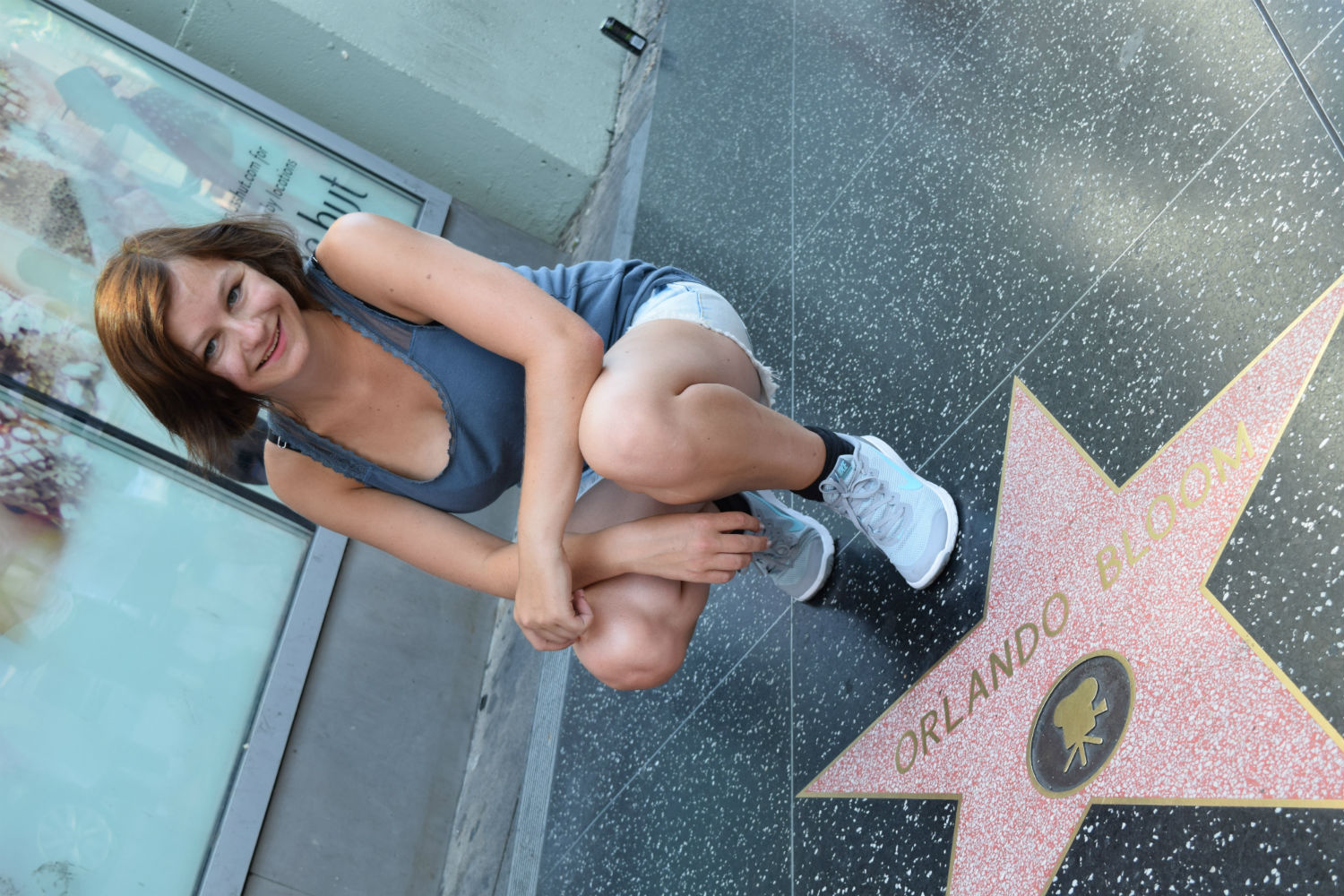 EC Student visiting Hollywood!