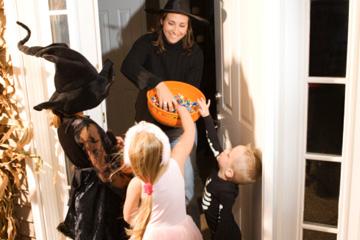 On Halloween, children tick or treat!