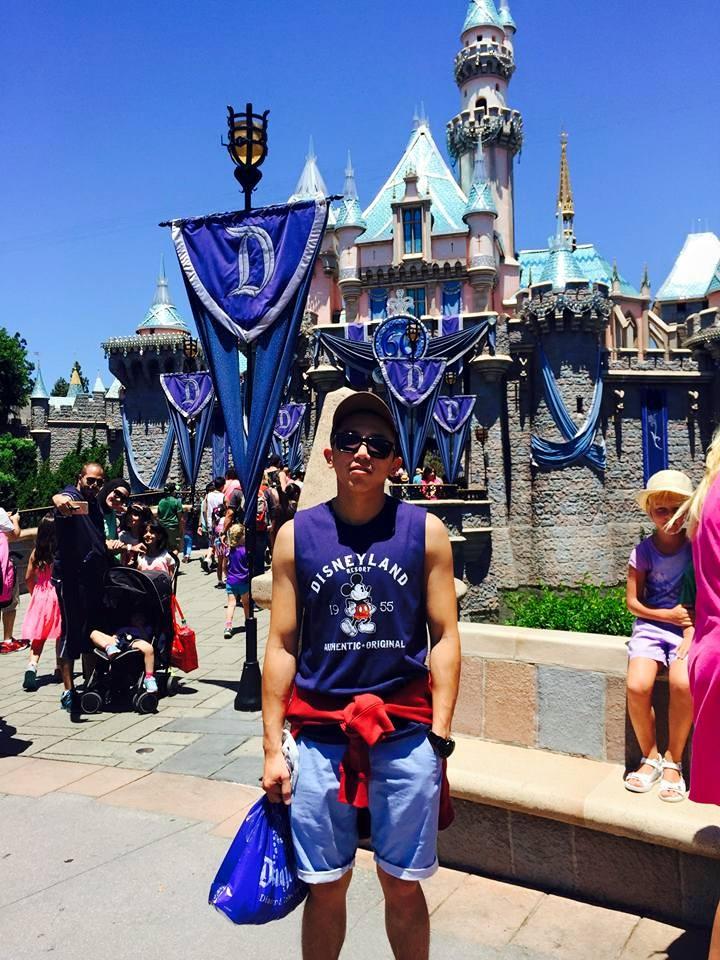 Minkuk visiting Disneyland, California.
