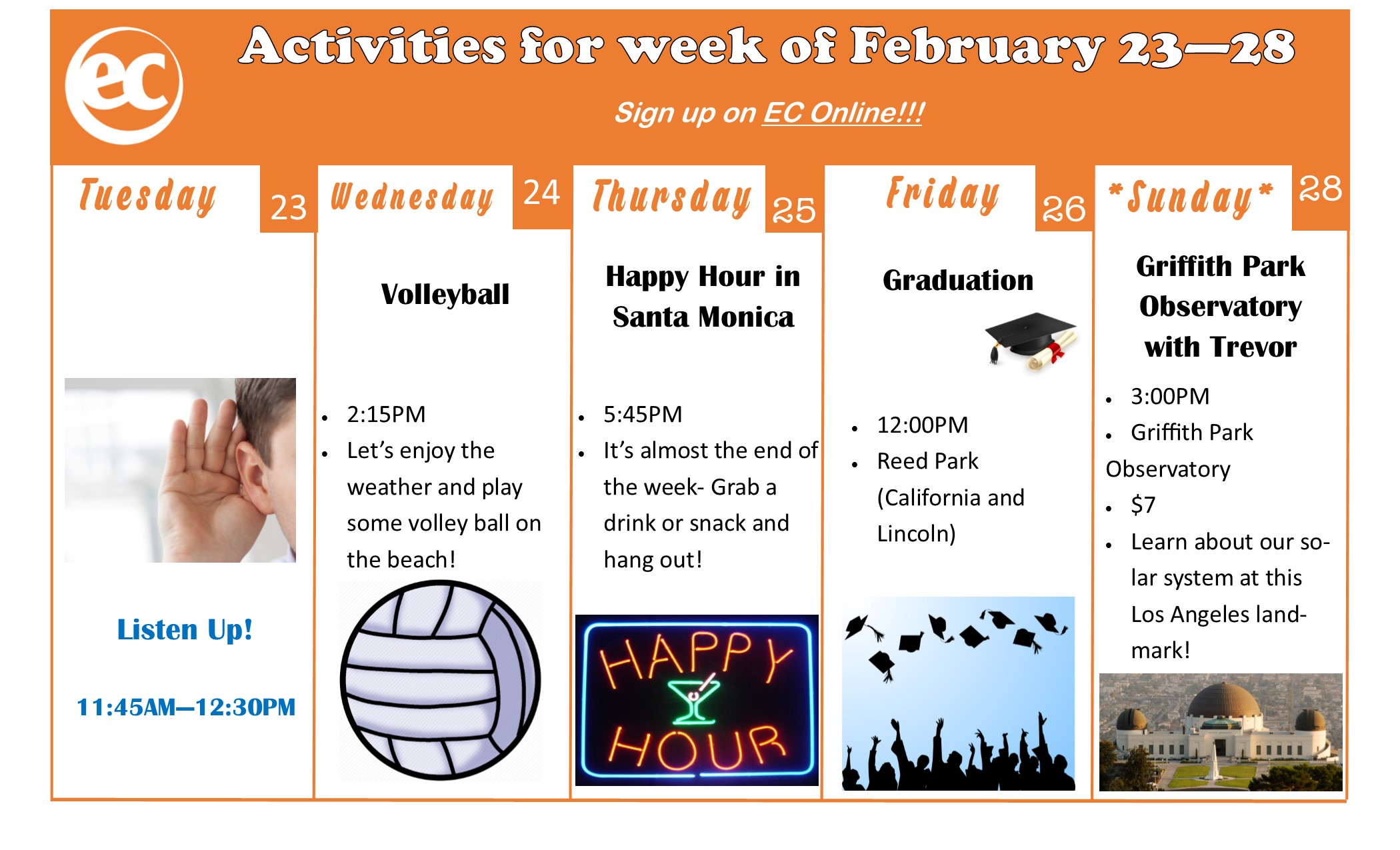 This week's activities from ECLA!