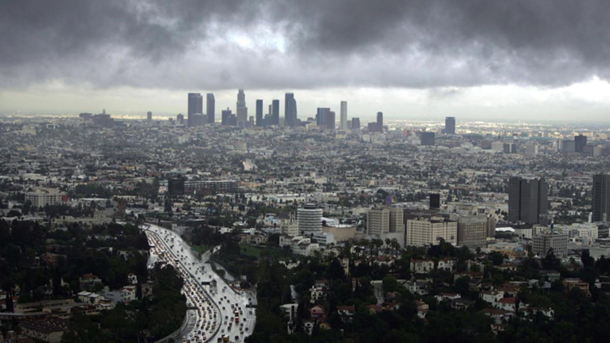 Rain in LA!