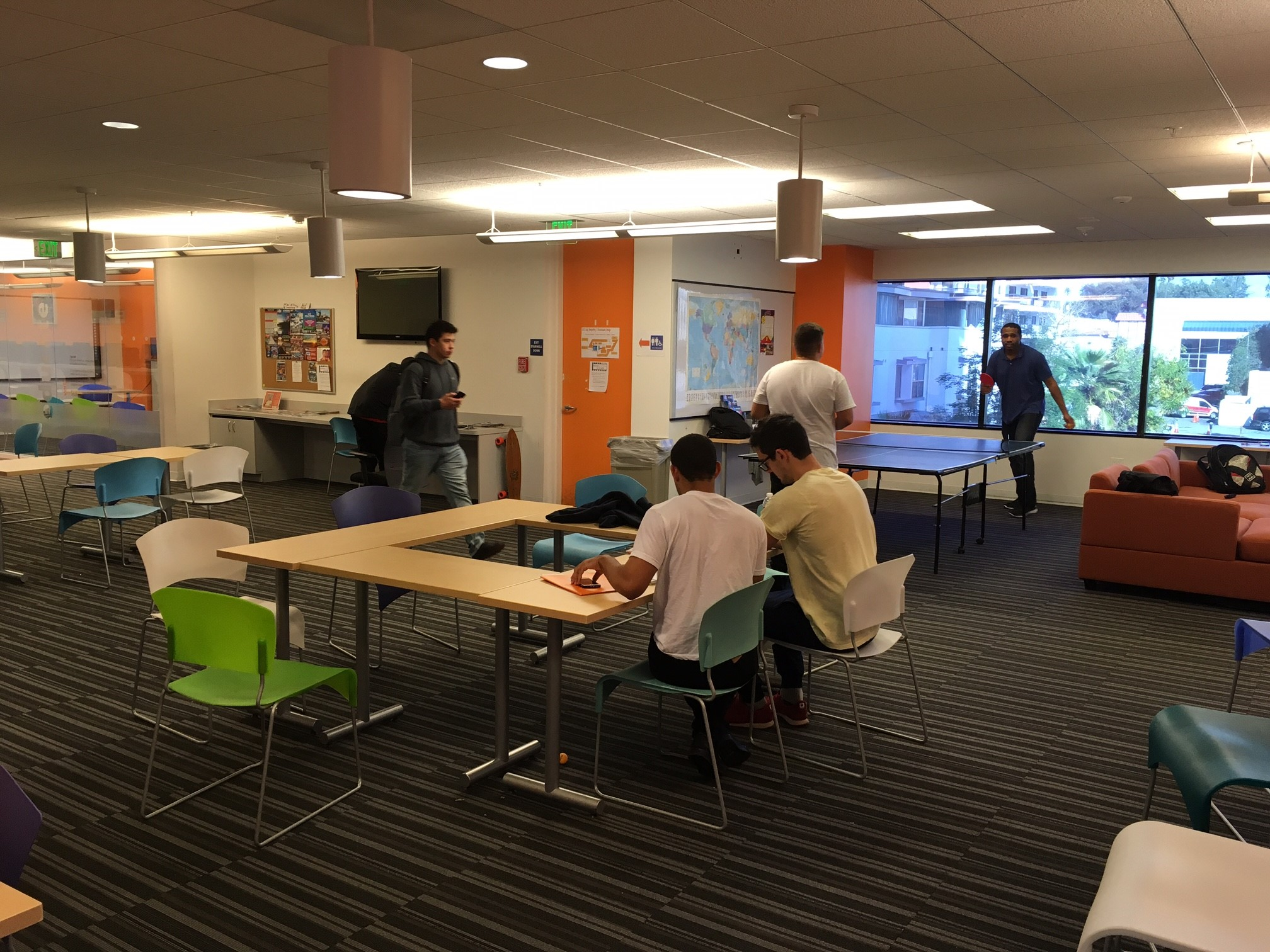 Our newly expanded student lounge!