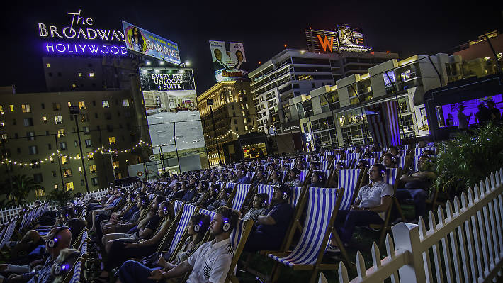 Rooftop Film Club in Hollywood