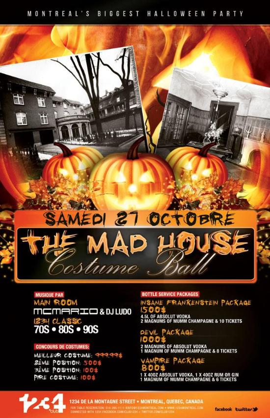 Halloween Party Packages.Halloween Party Club 1234 This Weekend Ec Montreal Blog