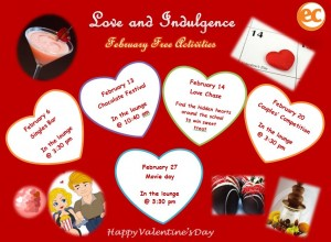 February free activities calendar