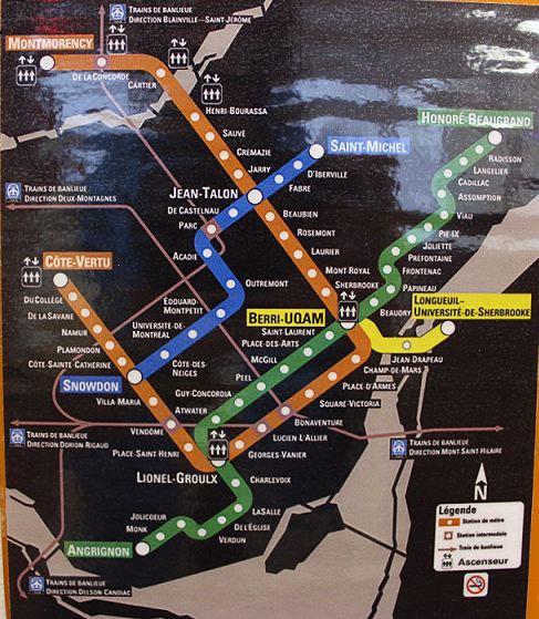 metr map mtl
