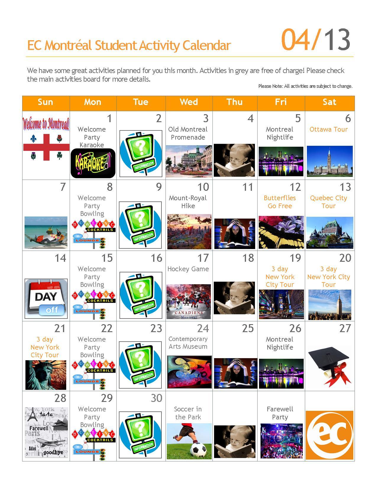 April Calendar Of Events : April social events calendar ec montreal