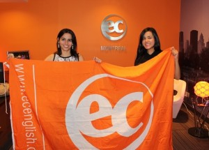 Diana and Ticiana with flag
