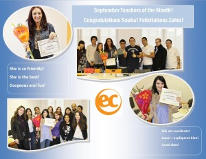 teacher of the month september 2014