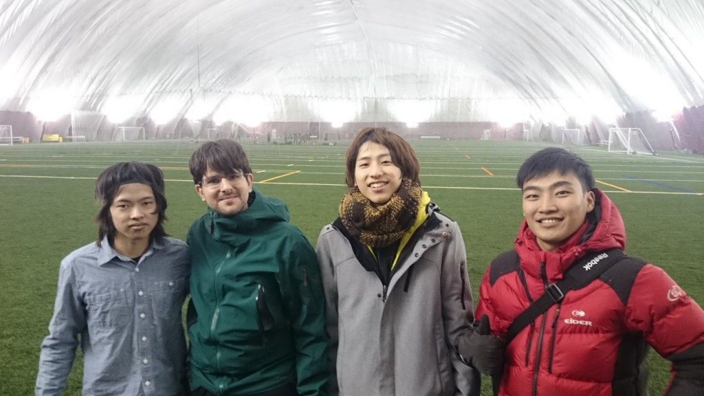 EC Montreal students in the soccer field