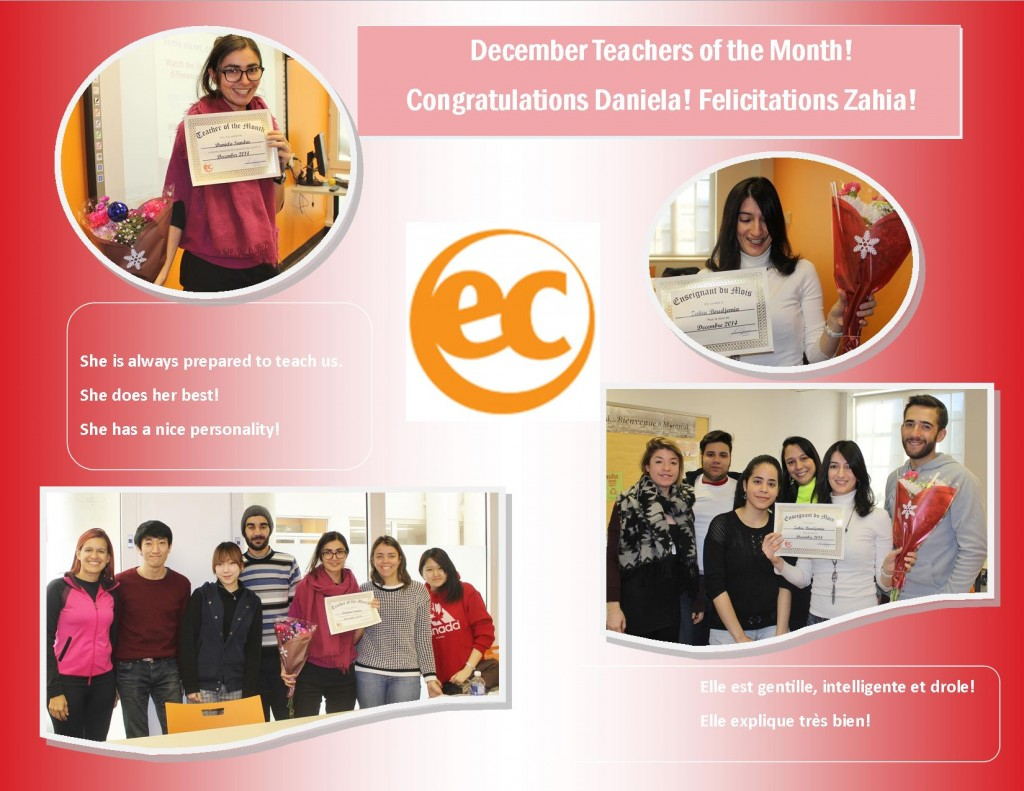 teacher of the month december 2014