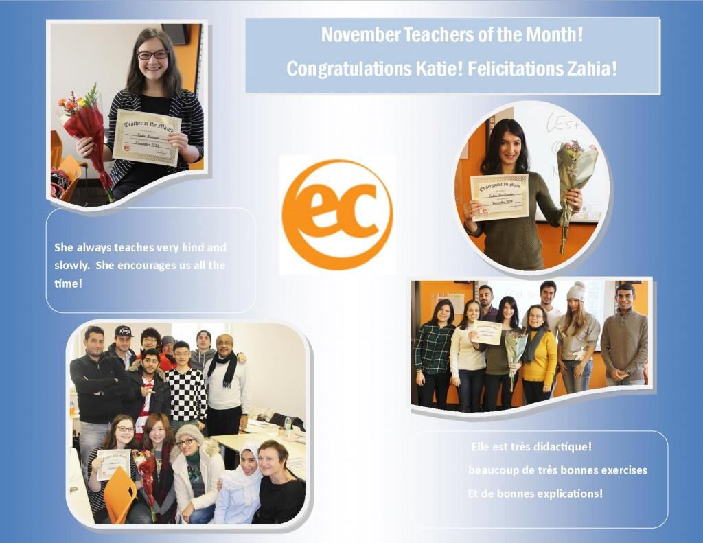 teacher of the month nov 2014