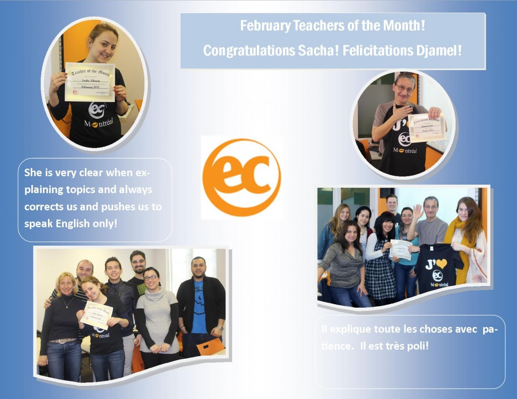 teacher of the month feb 2015
