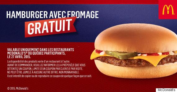 free cheeseburger